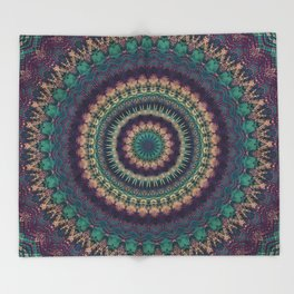 Mandala 580 Throw Blanket