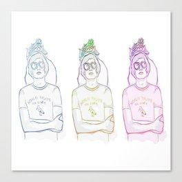 """""""Noklai Fruita, The Storks"""" Nikolai Fraiture / The Strokes 3 Canvas Print"""
