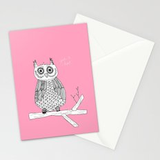 Pink Owl Gives A Hoot Stationery Cards