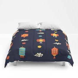 Chinese Lantern Pattern Comforters