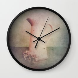 Vintage in Pink Wall Clock