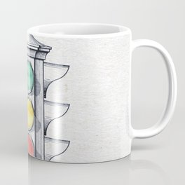 Traffic lights watercolor Coffee Mug