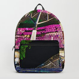 Christmas Glimmering Shopping Mall Full Frontage Backpack