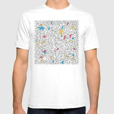 step brother triangles White Mens Fitted Tee MEDIUM