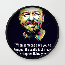 Ricky Gervais Quotes Wall Clock