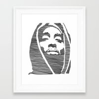 tupac Framed Art Prints featuring Tupac  by Colin Douglas Gray