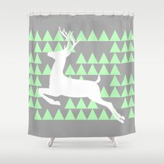 FREEDOM DEER Shower Curtain