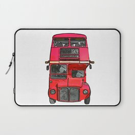 The big red bus. (Painting) Laptop Sleeve