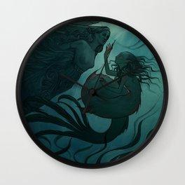 The day a mermaid found a shipwreck Wall Clock