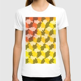 Cubes / Crystals / Abstract Mid-century Minimalist dotted pattern T-shirt