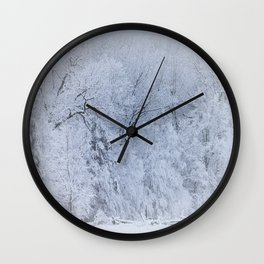 First Snow Fall Fresh Snow on Trees Nature Photography ~ Winter Hush Wall Clock