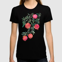 red pomegranate watercolor T-shirt