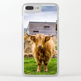 Highland Cow Clear iPhone Case