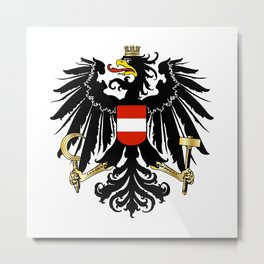 Austrian Coat of Arms Metal Print