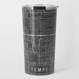 Tempe Map, Arizona USA - Charcoal Portrait Travel Mug