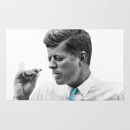 John F Kennedy Smoking Rug
