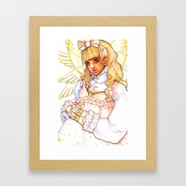 Seraphic Cyborg Framed Art Print