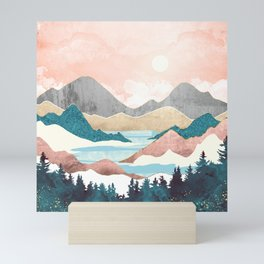 Lake Sunrise Mini Art Print