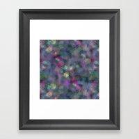 Dark holographic Framed Art Print