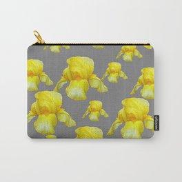 LEMON YELLOW SPRING IRIS GREY ART Carry-All Pouch