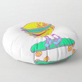 Skull on a skateboard Floor Pillow