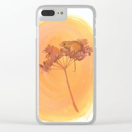 Harvest Mouse on Seed Head Clear iPhone Case