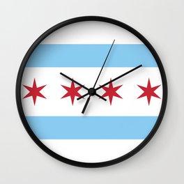 Chicago City Flag Wall Clock