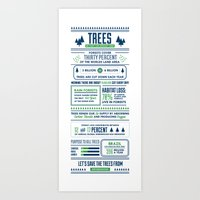 Tree infographic Art Print