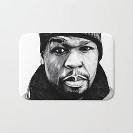 50 Cent Pen Drawing Bath Mat