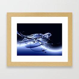 Wasserspiel - water play Framed Art Print