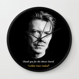David Bowie,Golden Years Tribute, A Music Legend Wall Clock