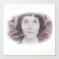 amelie Canvas Prints featuring Amelie by EclipseLio