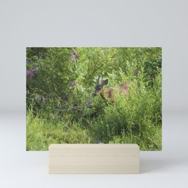 Young Doe Among The Flora painterly Mini Art Print