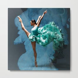 -O1- Blue Ballet Dancer Deep Feelings. Metal Print