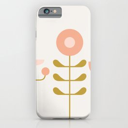 very graphic flowers iPhone Case