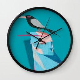Man and Bird Wall Clock