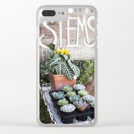 Florist Design Clear iPhone Case