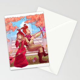 Witch and Wizard of Valentines Stationery Cards
