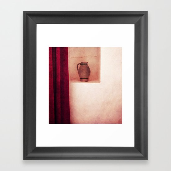 Grey jug Framed Art Print