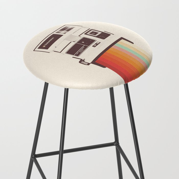 Instant Camera Rainbow Bar Stool