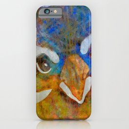 Colorful Curious Bird Art-Barbara Chichester iPhone Case