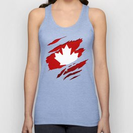 Canadian Red Flag Pride Unisex Tank Top