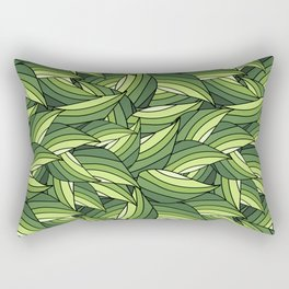 GREENERY LEAVES B  (abstract flowers nature) Rectangular Pillow