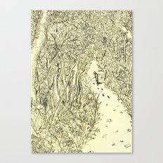 following footprints Canvas Print