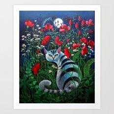 Cat in the Night Art Print