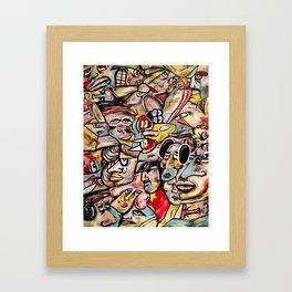 24 Faces Framed Art Print