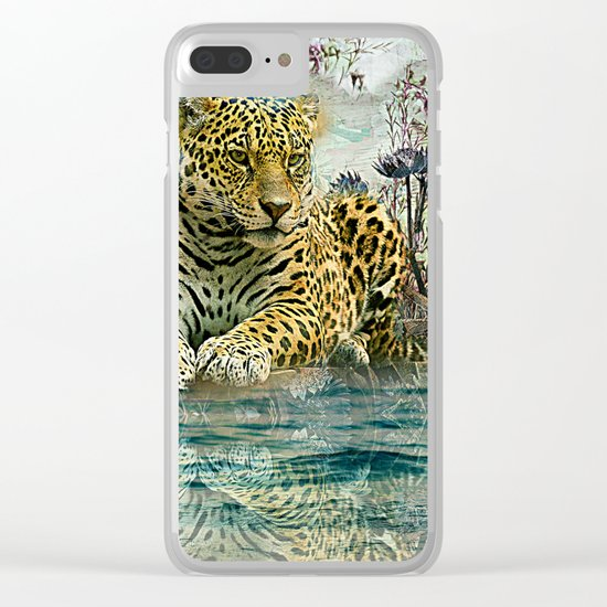 Lingering Leopard Clear iPhone Case