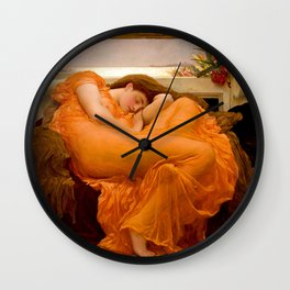 FLAMING JUNE - FREDERIC LEIGHTON (RESTORED) Wall Clock