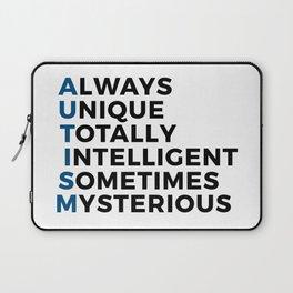 Autism Autistic Unique Intelligent Mysterious Laptop Sleeve