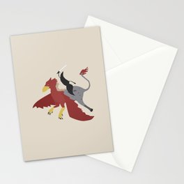 Mythical Mustache Stationery Cards